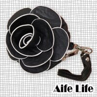 【aife life】日韓春夏,新款山茶花零錢包/玫瑰/手拿包/手機袋,立體山茶花造型,今夏引人注目的焦點