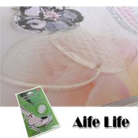 【aife life】A0931 矽膠按摩鞋墊/矽膠果凍鞋墊/止滑鞋墊,減震加顆粒按摩,一套2片,有效改善鞋過大的困擾
