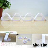 【aife life】白色塑膠防脫落桌布夾/餐桌夾防風夾子桌巾夾麻將紙夾麻將桌夾