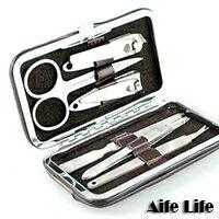 【aife life】六件式多功能電鍍修容組,6件式指甲剪組,可印製LOGO當禮贈品最有質感!!