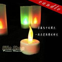 【aife life】浪漫滿屋居家擺飾LED擬真七彩蠟燭燈/杯燈生日蠟燭小夜燈造型燈聖誕婚禮佈置(無燈罩無聲控)