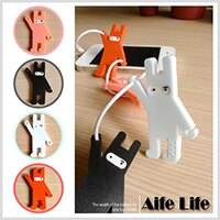 【aife life】忍者兔集線器/捲線器繞線器收線器耳機線收納USBMP3PDA耳機線