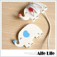 【aife life】愛心大象集線器/捲線器繞線器收線器耳機線收納USBMP3PDA耳機線