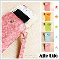 【aife life】荔枝皮手機套/iphone保護套手機殼皮套鈕扣套馬卡龍