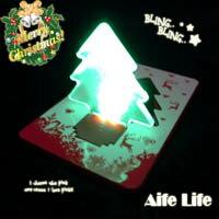 【aife life】LED聖誕樹造型燈/卡片燈/耶誕禮物/賀卡,創意燈具,信用卡般大小 ,隨身攜帶超方便!另售燈泡、一箭穿心造型卡片燈!!