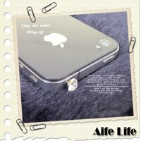 【aife life】iPhone/htc/智慧型手機/水鑽/鑽石耳機孔防塵塞/耳機塞/防潮塞,歡迎大量批發!