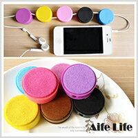 【aife life】馬卡龍螢幕擦集線器/捲線器繞線器收線器耳機線收納USBMP3PDA耳機線