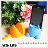 【aife life】桌上型多功能大嘴貓咪造型收納座/平板電腦支撐架iphone手機支架手機座遙控器座遊戲搖桿座便條紙座