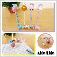【aife life】可站立長頸驢中性筆/原子筆水性筆油性筆斑馬河馬驢子動物創意文具