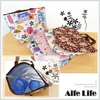 【aife life】日韓流行繽紛多彩保暖保冷袋-大/便當袋飯盒袋手提袋野餐袋保冰袋保溫袋