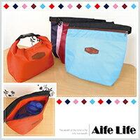 【aife life】日韓流行素面帆布可扣保暖保冷袋-小/便當袋飯盒袋手提袋野餐袋保冰袋保溫袋