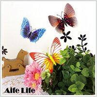 【aife life】磁性夜光蝴蝶冰箱貼/仿真蝴蝶 造型磁鐵 白板貼 壁貼