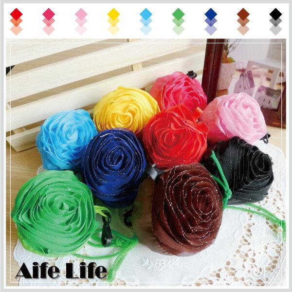 【aife life】日韓春夏,新款玫瑰環保袋折疊購物袋,玫瑰購物袋/環保袋,為地球盡一份心力