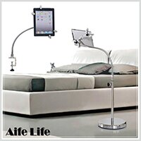 【aife life】二用平板電腦支架 / IPad / 平板電腦落地支架 / 懶人支架 / 電腦支架可直放橫放桌面用 0