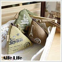 【aife life】韓系粽子零錢包/復古零錢包 收納袋 萬用包 鑰匙包 小錢包