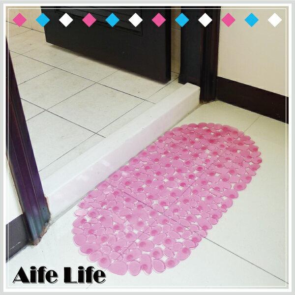 【aife life】鵝卵石吸盤防滑墊/防滑腳踏墊 地墊 浴室防滑墊 果凍防滑墊 浴缸墊