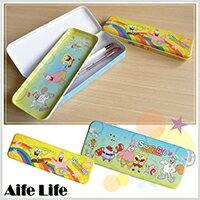 ~aife life~海綿寶寶鐵製雙層筆盒^(買一送一^), 最安心^!^! ~  好康折