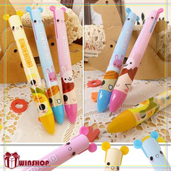 【aife life】熊熊兔子耳朵造型雙色原子筆~超好用日韓文具,可當宣傳贈品禮品筆