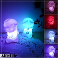 【aife life】音樂小天使七彩LED燈/七彩燈 小夜燈 造型燈 婚禮佈置LED燈