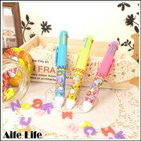 【aife life】原子筆八合一小熊圖案超可愛,超好用文具,宣傳贈品筆,開幕活動