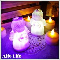 【aife life】LED七彩天使祈福小夜燈-小/天使之戀/Angel led/天使燈/許願燈/造型燈/裝飾燈,天使造型小夜燈,聖誕佈置