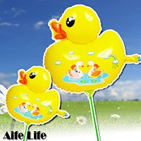 【aife life】黃色小鴨充氣氣球/空飄氣球 黃色小鴨造型氣球 婚禮佈置 兒童玩具 塑膠氣球