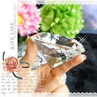 【aife life】1000克拉水晶鑽石擺飾-直徑8cm/可刻字/超大鑽石/求婚告白/情人節禮物/婚禮小物/婚紗攝影