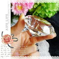 ~aife life~750克拉水晶鑽石擺飾~直徑6cm  可刻字  超大鑽戒  求婚告白