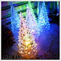 【aife life】七彩LED聖誕樹燈/LED燈/水晶聖誕樹燈/LED聖誕燈/七彩聖誕燈/小夜燈/裝飾燈/聖誕佈置