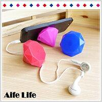 【aife life】鑽石集線器手機支撐架/耳機捲線器/集線器/平板支撐架/鑽石支撐架