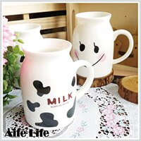 【aife life】日系陶瓷牛奶杯-小/牛奶馬克杯/牛奶罐造型馬克杯/咖啡杯/早餐杯