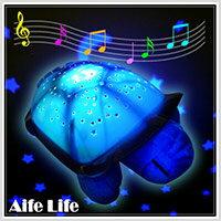 【aife life】海龜投影燈-有音樂/音樂寶貝安眠海龜投影滿天星燈/安眠海龜/星空燈/烏龜星空達人/小夜燈/擺飾