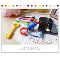 【aife life】鑰匙集線器/捲線器/繞線器/收線器/耳機線收納/鑰匙圈