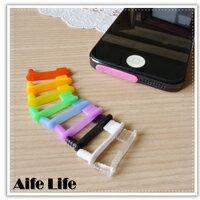 【aife life】彩色iphone5 5S 5C 防塵塞/耳機孔防塵塞/傳輸孔防塵塞/手機防塵塞/防潮塞