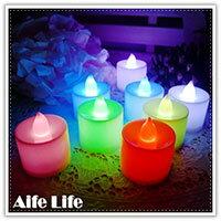 【aife life】七彩蠟燭燈-中/LED擬真蠟燭燈/生日蠟燭/小夜燈/居家婚禮佈置/LED燈/情境燈