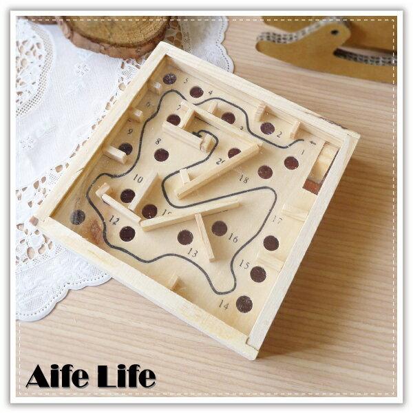 【aife life】木製迷你彈珠迷宮/掌上型迷宮/平衡迷宮/古早味童玩/小鋼珠/益智遊戲/禮贈品