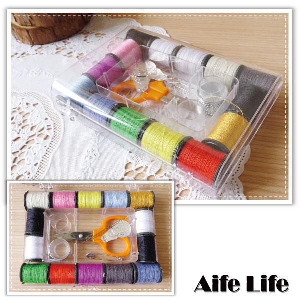 【aife life】隨身針線盒/縫紉包/縫紉工具組/針線包/盒裝針線/多功能針線盒/裁縫/禮品贈品