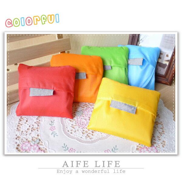 【aife life】糖果色收納購物袋/環保購物袋/肩背包/摺疊購物袋/防潑水收納包/禮品贈品