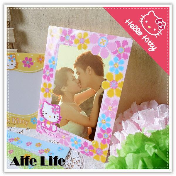 【aife life】台灣製Hello Kitty無痕壁貼相框-4*6/正版授權凱蒂貓相框/無痕相框/專利商品