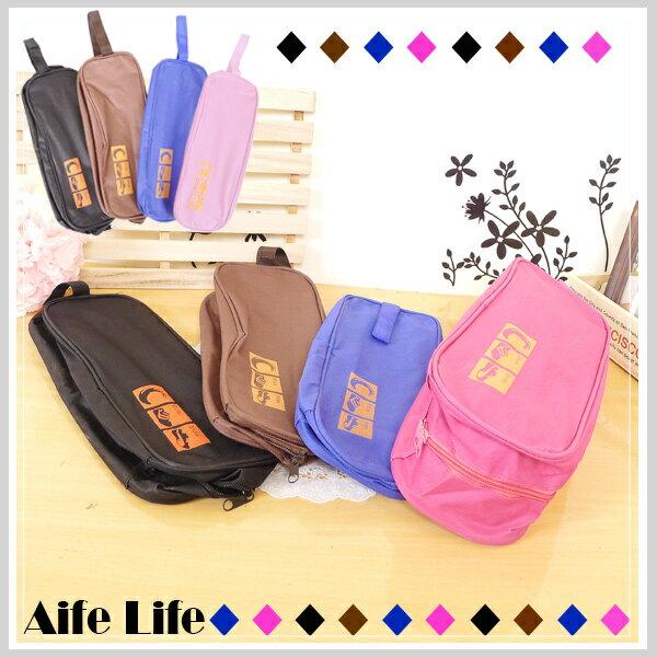 【aife life】防潑水透明鞋袋//鞋子收納包 鞋袋 旅行鞋袋 沙灘防水袋 旅遊收納袋
