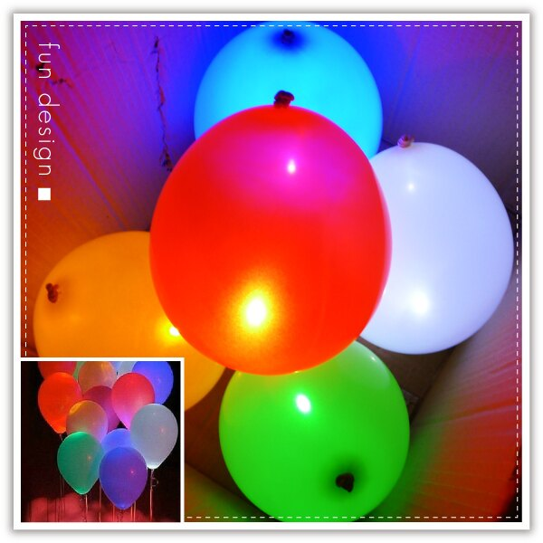 【aife life】LED燈氣球/發光氣球12吋橡膠氣球/氣氛小夜燈/情人節慶生演唱會晚會婚禮夜拍路跑