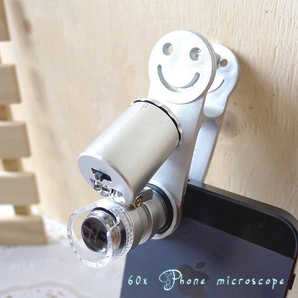 【aife life】手機60倍顯微鏡/平板手機萬用夾迷你顯微鏡驗鈔燈/伸縮變焦/ iphone HTC SONY Samsung 紅米小米