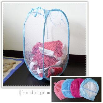 【aife life】折疊洗衣籃,網狀洗衣籃,玩具箱、收納袋、置物籃,可摺疊收納,不占空間!!