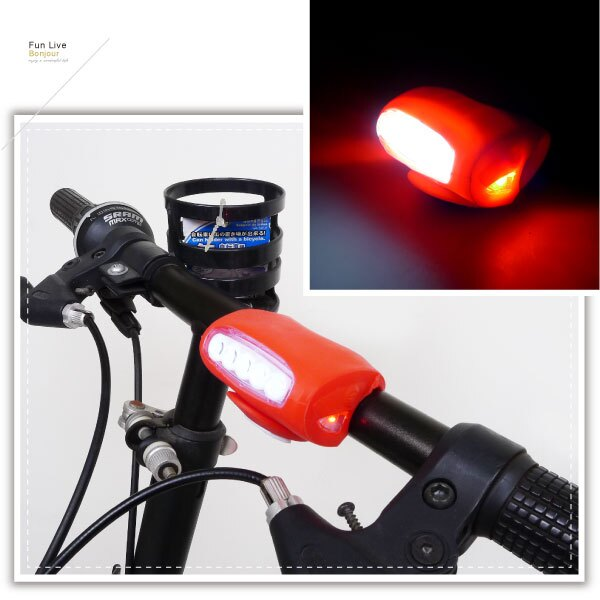 【aife life】矽膠5LED大青蛙燈/2用LED燈/閃光燈/警示燈/腳踏車燈/小折 自行車燈