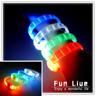 【aife life】條狀LED手環/多段式LED燈手環/運動手環/彩色發光LED 手鐲/演唱會 造勢活動 尾牙 派對