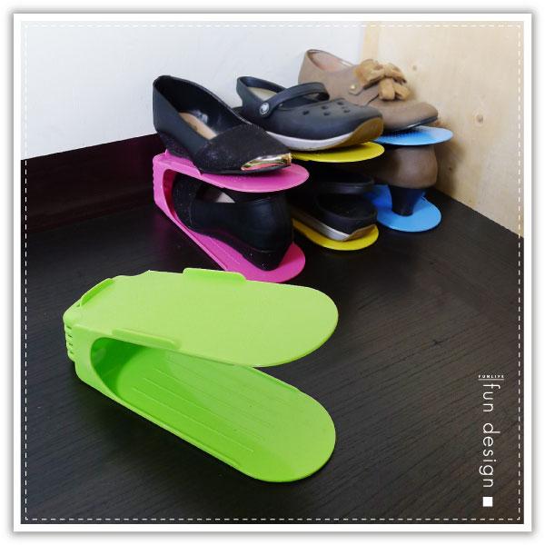 【aife life】】彩色一體鞋架/加厚一體式創意鞋架/日式收納鞋架/簡易鞋架/雙層疊放鞋架/