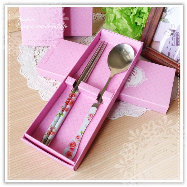 【aife life】】盒裝餐具組-紙盒/不鏽鋼餐具組/婚禮小物/送客禮/姊妹禮/湯匙/筷子/