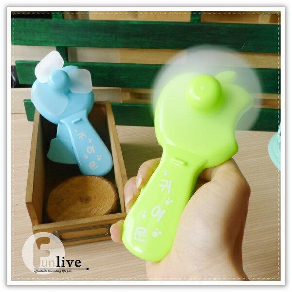 【aife life】蘋果手壓風扇/省力手壓迷你風扇/環保手動風扇/安全軟葉風扇/手搖扇