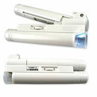 【aife life】40倍顯微鏡附LED燈,可調焦距、可拆式,只需3號電池供電