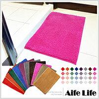【aife life】超細纖維吸水雪尼爾防滑腳踏墊/地毯地墊浴室防滑墊快速吸水